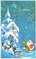 Santa & his reindeer (dachweiler) Tags: northpole santasworkshop santasreindeer santaclaus santa reindeer vintagechristmas vintagegreetingcard vintage fransvan fransvanlamsweerde christmascard christmas