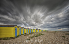 Storms approaching... (Emily_Endean_Photography) Tags: littlehampton sussex beach sky clouds longexposure lee leefilters bigstopper sea seaside autumn yellow beachhuts huts