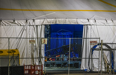 gate 3 (pbo31) Tags: sanfrancisco california color nikon d810 night dark boury pbo31 november 2016 fall bayarea cirquedusoleil luzia setup show missionbay attpark traveling tent backstage blue flap opening 3 gate fence