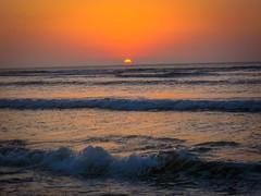 Pacasmayo sunset on the beach.