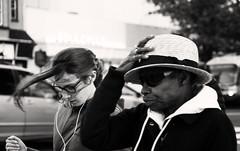 Windy Crosswalk (MikeSpeaks) Tags: streetphotography washingtondc ustreet crosswalk wind women blackandwhite