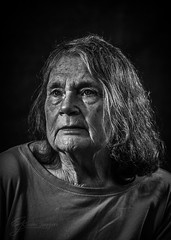 DSC_6553-1 (Claire Jaggers Photography) Tags: elderly woman portrait old wrinkles blackandwhite highdefinition indoor sidelight