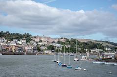 Dartmouth (SKAC32) Tags: dartestuary britanniaroyalnavycollege bluesky clouds dartmouth lowerferry dartmouthrailwaystation ria yacht moorings devon southhams swengland water