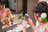 Young kimono girl taking selfie picture in beauty salon (Apricot Cafe) Tags: img4926 20s asianethnicity japan japaneseethnicity kimono sigma35mmf14dghsmart tokyo beauty beautysalon ceremony culture enjoy hairsalon happiness oneperson peaceful seijinshiki woman youngadult minatoku tōkyōto jp