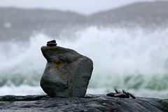 balance (stefanito 01) Tags: balance cairn wave atlantic rock stoneart naturalart kerry ireland derrynane splash water