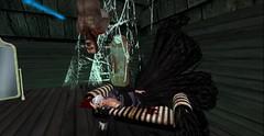 Driving him insane.. (Allie Carpathia) Tags: horror autumn halloween hauntedhouse gore beauty secondlife