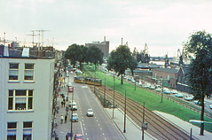 Once upon a time - The Netherlands - Rotterdam Zuid (railasia) Tags: holland zuidholland rotterdamzuid ret routenº12 specialrun articulatedmotorcar düwag infra tracklayout bridseyeview sixties