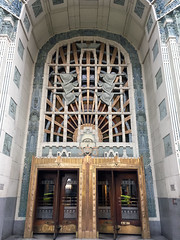 Marine Building Entrance (entheos_fog) Tags: vancouver downtown marinebuilding