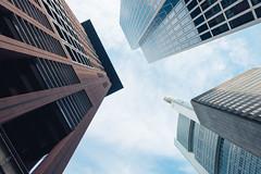 Frankfurter Bankenviertel III (Schermannski) Tags: frankfurt hochhaus skyscraper