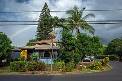 the streets of Lahaina (Patricia Colleen) Tags: thestreetsoflahaina maui lahaina hawaiianhomes palmtrees rainbow