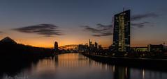 Europäische Zentralbank (EZB) (Lothar Drewniok) Tags: ezb lothardrewniok skyline spiegelungen wasser reflexionen skylinefrankfurt freedom