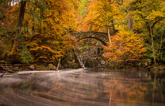 The Hermitage (Katherine Fotheringham) Tags: hermitage long exposure braan scotland bridge autumn trees forest woods river bubbles