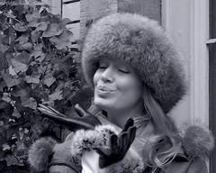 La Chapelière Bruxelles (Natali Antonovich) Tags: portrait lachapelièrebruxelles lachapelière winter mélaniemassoni lifestyle sablon dezavel charm femininity tradition furhat mood christmasholidays gesture christmas monochrome sweetbrussels brussels belgium belgique belgie