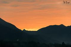 Alba Sacra San Michele (f.cevrero) Tags: alba clouds landscape nuvole paesaggio morning red rouge rosso mattina monument mountains montagne alps alpi nikon d3200 outdoor