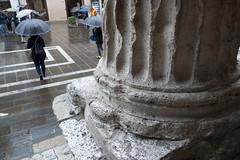 by an ancient Roman temple (tcd123usa) Tags: italyparislondon2016 leicadlux4 romantemple umbrellas
