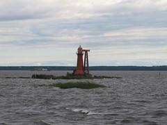 Kronstadt. Fort Kronshlot. 24-meters high Nizhniy Nikolaevskiy lighthouse was built in 1857. It is out of function (leraorsi70) Tags: kronstadt кронштадт форт lighthouse majakka маяк