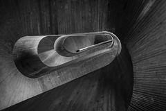 concrete spiral (Blende1.8) Tags: staircase treppenhaus stair stairs stairway wendeltreppe spiral concrete beton modern contemporary architecture architektur museum kppersmhle duisburg nrw ruhrgebiet ruhrpott binnenhafen building indoor interior lines curves shadows schatten licht carstenheyer urban nikon d610 nikkor 1835mm afs wideangle
