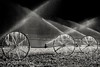 icy showers... (Alvin Harp) Tags: irrigation waterspray sprinkler farming farm paragonah utah southernutah october 2016 blackandwhite bw monochrome sonyilce7rm2 fe24240mm icicles ice alvinharp