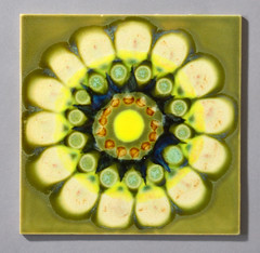 Tile by Clive Simmonds (robmcrorie) Tags: clive simmonds 1960s intaglio studios circle tile ceramic