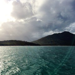 Wineglass Bay. Sunshine and cloud.