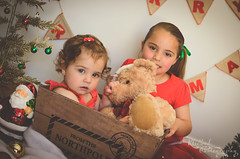 DSC_0139-Edit (Klicked Photography) Tags: christmas matte warm hazy xmas red green snow lights tree santa reindeer decorations merrychristmas merryxmas northpole love kids children child bear teddy cuddles sisters vignette nikon d5100 faded