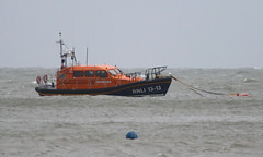 Swanage Lifeboat (Treflyn) Tags: rnli shannon class lifeboat 1313 georgethomaslacy storm swell swanage harbour dorset