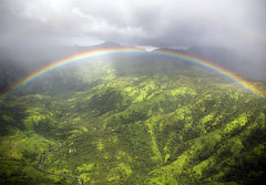 Somewhere under a rainbow, way up high (Angela Freeman) Tags: kauai rainbow scenery landscape mountain clouds weather rain green pentaxk5 sigma18300mm