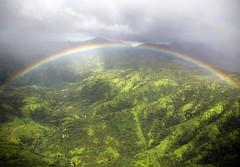 Somewhere under a rainbow, way up high (Angela Freeman) Tags: kauai rainbow scenery landscape mountain clouds weather rain green pentaxk5 sigma18300mm