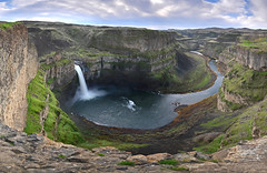 Palouse Falls (photo61guy) Tags: wa waterfalls waterflow watermotion water river stream nikond7000 panorama pano landscape nature statepark palouseriver palousefalls overlook washington cliff gorge canyon platinumheartaward