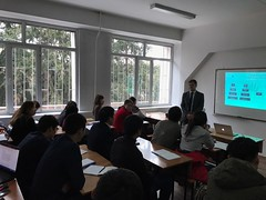 "Lectures delivering on December 5th 2016 on Al Farabi Kazakh National University, Almaty (8) <a style=""margin-left:10px; font-size:0.8em;"" href=""https://www.flickr.com/photos/89847229@N08/31294313222/"" target=""_blank"">@flickr</a>"