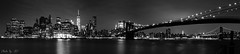 Manhattan bw (stephane_p) Tags: brooklynbridge manhattan manhattanbridge newyork pentax pentaxk3 blackandwhite blackwhite bridge bw longexposure monochrome nb night noirblanc noiretblanc nuit pano panorama pont poselongue