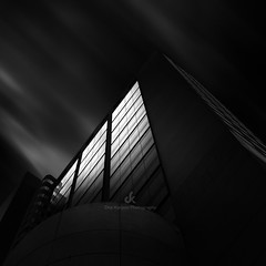 Miami Sky IV (Dez Karpati Photography) Tags: dezkarpati hungarian magyar photo foto photography photographer photoartis famous art fineartphotography bw blackandwhite monochrome dramatic dark miami architecture building obstruct modern sky blurred nd longexposure skyscraper downtown glassbuilding
