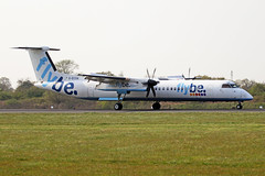 G-ECOA Bombardier Dash 8Q-402 FlyBe Airlines MAN 15APR19 (Ken Fielding) Tags: gecoa bombardier dash8q402 flybe aircraft airplane airliner jetprop turboprop regional
