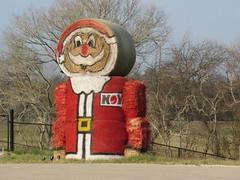 Texas-Sized Hay Santa...... (maorlando - God keeps me as I lean on Him!!) Tags: santa hay bales rolls christmas rural country backroad texas usa grimescountry