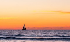 A toda vela (IrreBerenT) Tags: sunset sea sky sailboat coast boat barco wind simply velas cantabria velero cantabrico sanvicentedelabarquera irreberente