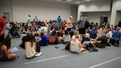 D23 Expo 2015 - Day 2 - 2015-08-15 - Stage 28 Queue Room - Waiting To Enter Show Floor (drj1828) Tags: waiting expo journal center convention anaheim d23 2015