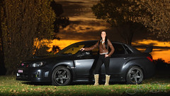 STi - SL Sunset Door (jasoncstarr) Tags: pink sunset woman hot girl lady female canon silver pose eos grey model flash subaru tamron wrx sti speedlight scooby subi owner strobe gunmetal 6d 2470mm sooby 430exii canoneos6d tamronsp2470mmf28divcusd tamron2470mmf28lens