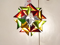 Dezembro 048 (Atelier ArthSarah!) Tags: paper origami modular japo papel bola dezembro tesoura sorte mbile tsuru dobradura longevidade dobras pendurar kudusama