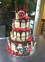 Yelp 5 Year Birthday Cake