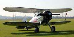 Gladiator (CanvasWings) Tags: uk history museum vintage war fighter aircraft aeroplane airshow ww2 duxford imperial biplane gladiator imperialwarmuseum 2015