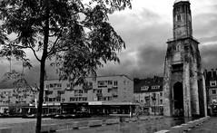Calais France # dailyshoot #IPhone #PlacedeAmiens (Leshaines123) Tags: white black france monument monochrome weather statue composition contrast de charles yvonne fountains gaulle et rule calais thirds iphone