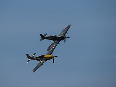 Goodwood Revival 2015 Vintage Fly By (fstop186) Tags: vintage war aircraft hurricane planes spitfire mustang goodwood flyby revival battleofbritain 2015
