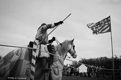 Butschebuerger Burgfest Dudelange, Luxembourg (nathyduluxembourg) Tags: sky horse festival cheval september ciel fete luxembourg chevalier extérieur septembre drapeau moyenage burgfest tournoi médiéval letzebuerg dudelange falg moeynage butschebuerger september2015 septembre2015