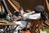 WWII re-enactors asleep on the job (Paul Braham Photography) Tags: ariel bike wwii motorbike duxford airforce reenactors raf imperialwarmuseum iwm waaf wraf