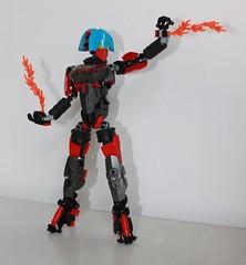 the blazing Dhrenia V3 (Loysnuva) Tags: woman anime sexy girl female fire factory lego system technic hero bionicle spear moc blazing loys nuva ccbs bionifigs loysnuva dhrenia