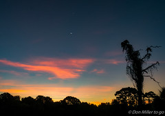 First Light (DonMiller_ToGo) Tags: nightphotography sky moon sunrise dawn venus g5 astrophotography nightsky sunrises skyscapes lunar crescentmoon skycandy