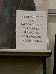 Photo of Debenhams Westwood Cross - bad signage !