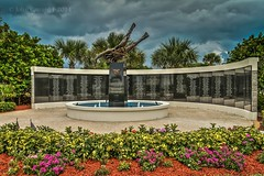 The wall @ the SEAL Museum in Fort Pierce, Florida. (jccj58) Tags: jccj58 seal sealmuseum fortpierce florida beach navy memorial wall hdr photomatix lightroom fountain frogman diver trident forhisgloryphotography