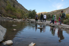 Feeding the fish 3 (Aggiewelshes) Tags: travel fish utah october lisa victor vivian bridalveilfalls olsen cailin jovie 2015 provocanyon jalila