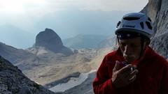 Reflections. (Roberta Pedrotti) Tags: mountain snow man mountains dad cigarette smoke helmet smoking uomo neve climber pap montagna mountaineer fumo fumare sigaretta alpinista caschetto